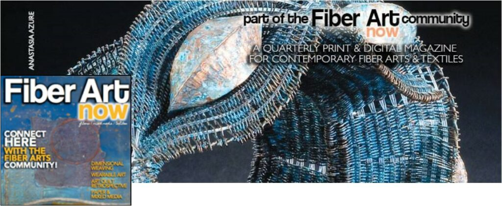 Anastazia Azure featured in Fiber Art Now, Summer 2016